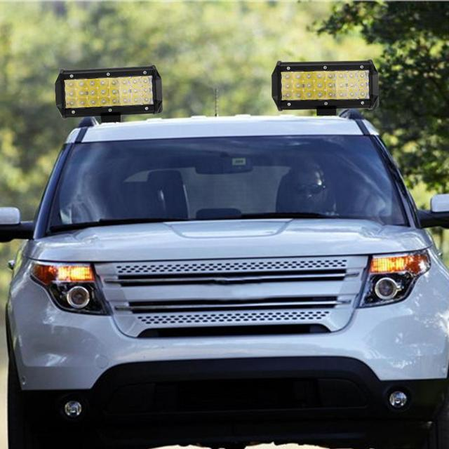 Cheap Sale Waterproof 7inch 24 LED 72W Car Work Light Bar Roof Driving Spot Flood Beam Lamp for Off Road Trucks 9-30V