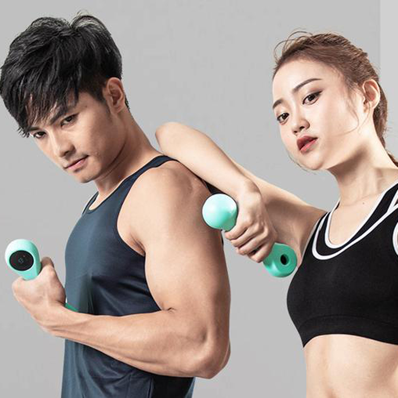 XIAOMI Move It Beat A Pair 0.5/0.75KG Portable USB Rechargeable Smart Sport Dumbbell Fitness Multifunction Health Care Supports