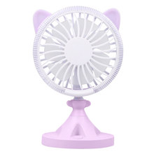 Colorful Mini USB Rechargeable Air Cooling Cat Shape Fan Desk Travel Home Student Dormitory Portable Desktop Office