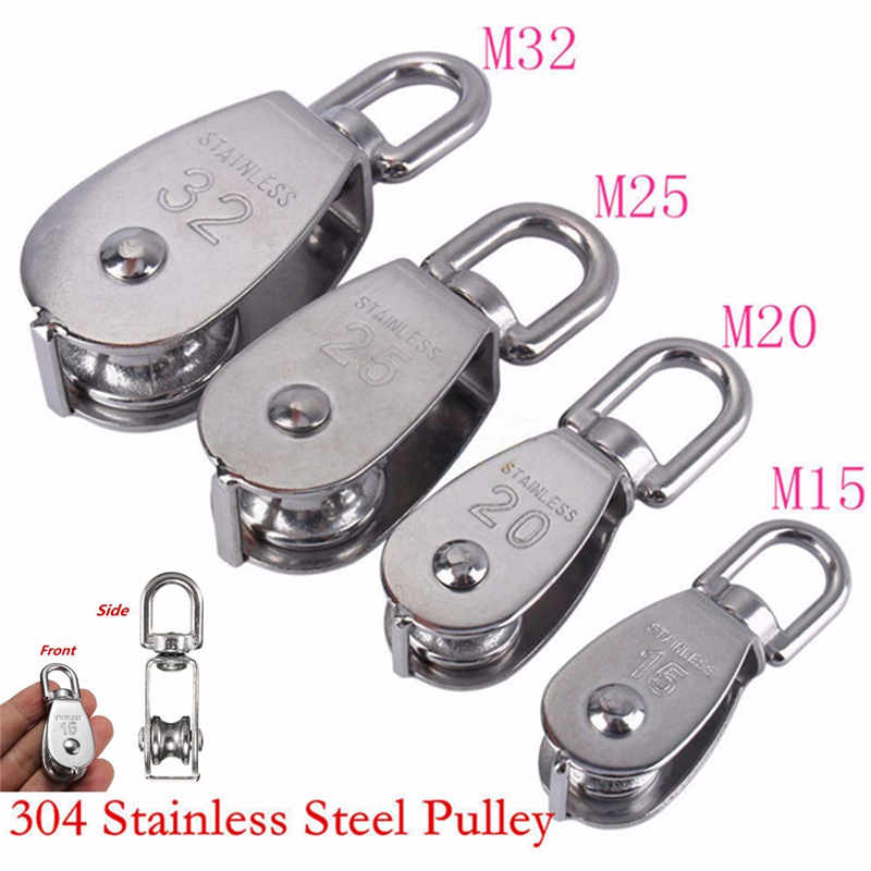Heavy   Steel Single Wheel Swivel Lifting Rope Pulley Block M15 M20 M25 M32
