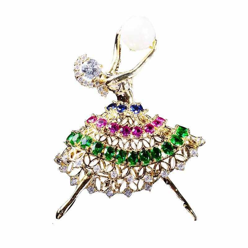 Alta Qualità D'imitazione Della Perla Cubic Zirconia broccia Spilla Spille Umani per le Donne di Promenade Del Vestito da Partito di accessori per Cappelli XR03345