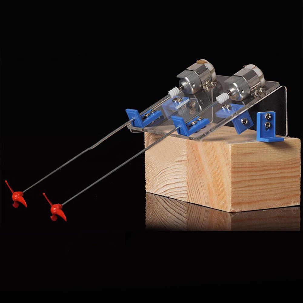 Diy игрушечная лодка комплект моторчик с пропеллером модель вала хобби обучения ручного водного ремесла незавершенная самосборка