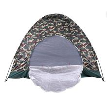 Outdoor Portable Beach Tent Camouflage Camping For 4 Persons Single Layer Oxford Fabric Waterproof Tents 200x200x135 Cm