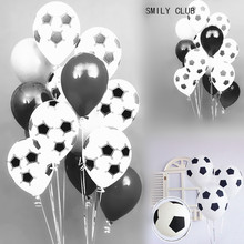 10pcs 12 inch Thicken Black White Color Football Balloons Kids Toys Soccer balloon party decorations Baby Shower Decoration