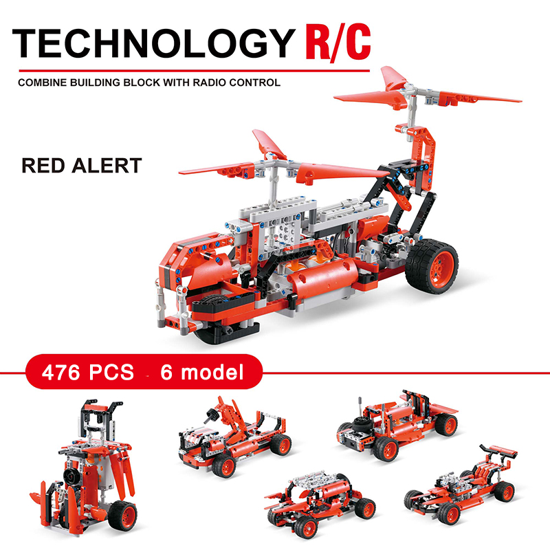 Technic Series The RC Remote control Race Car Set Educational construction building block toys for kids gift in Blocks from Toys Hobbies