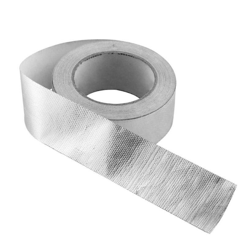 New Auto Car Motorcycle Exhaust Pipe Heat Shield Wrap Tape Foil Heat Insulating Tape Wrap Shield Adhesive 1.89 Inch X 82ft