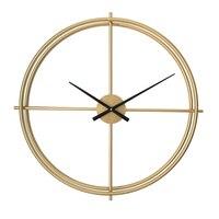 Vintage Large Decorative Wall Clock Gold Creative Kitchen Clock Design Black Large Brandweer Big Wall Clocks Home Decor C5T32