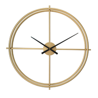 Vintage Large Decorative Wall Clock Gold Creative Kitchen Clock Design Black Large Brandweer Big Wall Clocks Home Decor C5T32