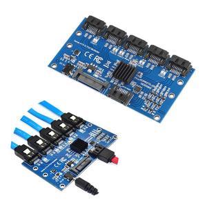 Image 3 - 1 do 5 Port SATA3.0 karta rozszerzeń karta kontrolera płyta główna 6 gb/s mnożnik Port SATA adapter do kart rozszerzających do dysku twardego komputera