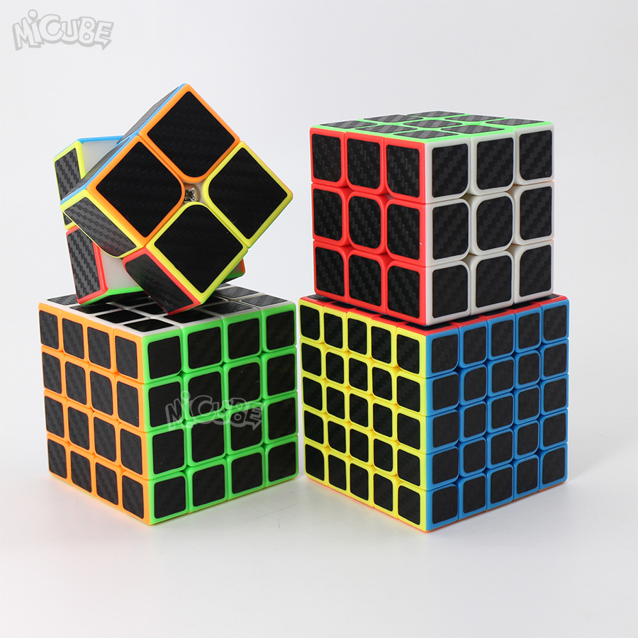 Carbon Fiber Cube Magic Cubes Speed 3x3x3 2x2x2 3x3x3 4x4x4 5x5x5 Puzzle Neo Cubo Magico 2x2 3x3 4x4 5x5 Toys For Children