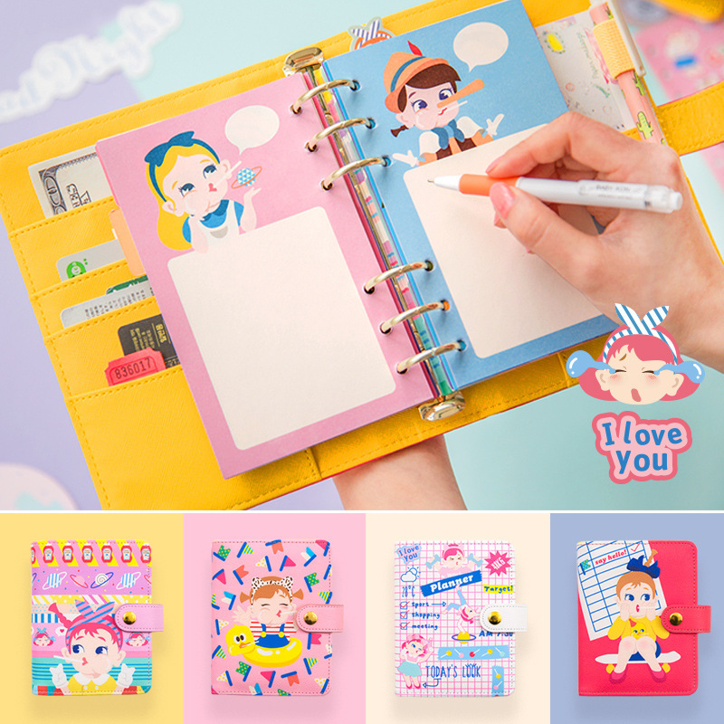 A6 A7 Notebook 2019 Agenda Planner Organizer Note Book Dividers Pu Leather Spiral Weekly Personal Travel Diary Journal Gift