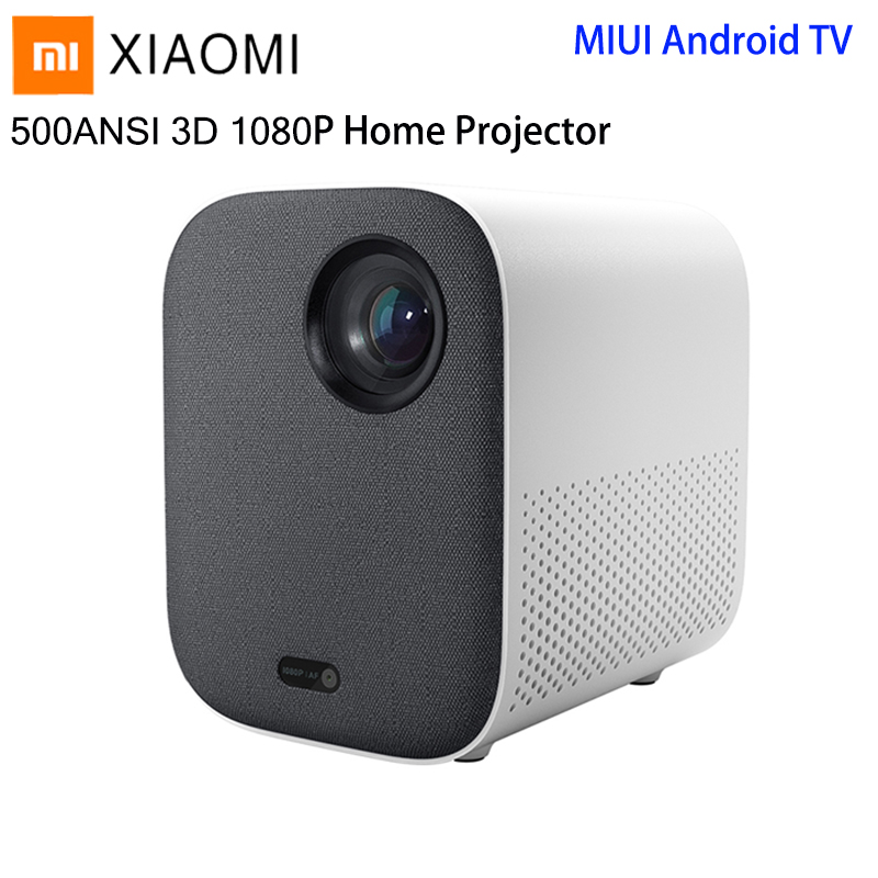Xiaomi Mijia DLP Smart Mini Projector 500ANSI Home Theater 1080P Voice Control 2GB 8GB 5G WiFi 3D Dolby LED Cinema Projector