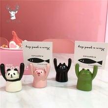 Милая свинья панда кошка лягушка форма фото клип держатель карты
