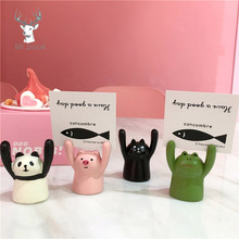 Lovely Pig Panda Cat Frog Shape Photo Clip Card Holder Message Office School Home Desk Decoration Accessories