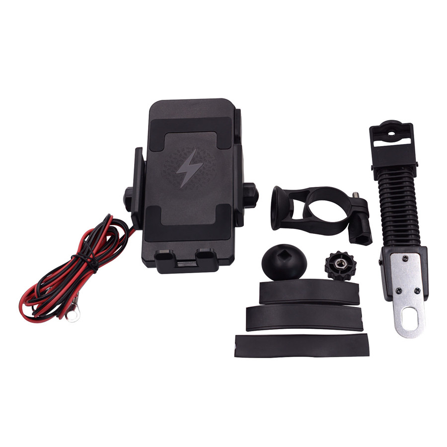 Motorcycle Wireless Charging Mobile Phone Bracket Waterproof Shockproof Riding Fixed Bracket in Motorcycle Electronics Accessories from Automobiles Motorcycles