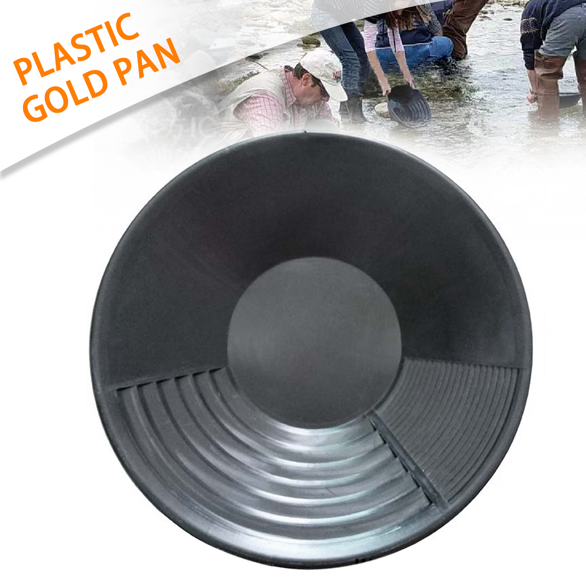 Black Plastic Gold Pan Basin Nugget Mining Dredging Prospecting for Sand Gold Mining Manual Wash Gold Panning EquipmentBlack Plastic Gold Pan Basin Nugget Mining Dredging Prospecting for Sand Gold Mining Manual Wash Gold Panning Equipment