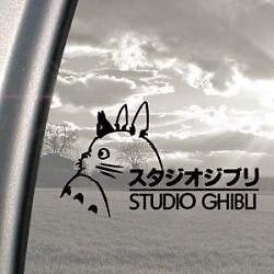 Autocollant autocollant Studio Ghibli 20 cm noir x1
