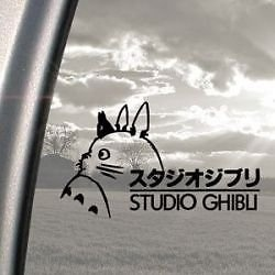 Studio Ghibli Decal Sticker 20cm Black X1