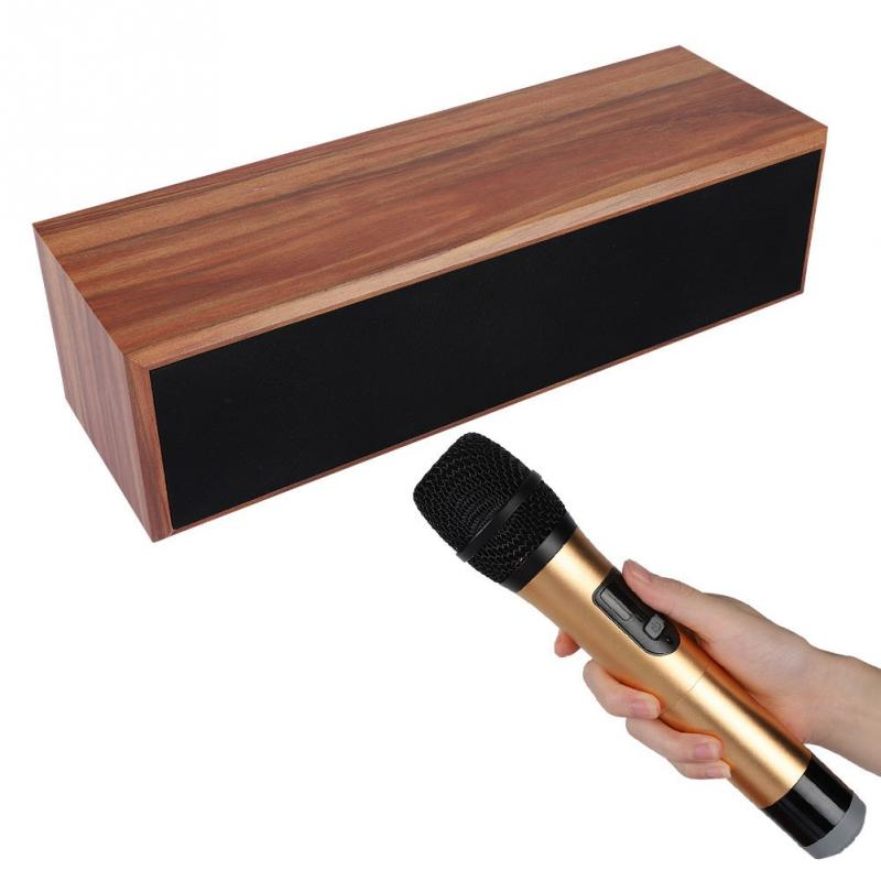 tv computer bluetooth speaker amplifier home theater with wireless microphone for us eu plug. Black Bedroom Furniture Sets. Home Design Ideas