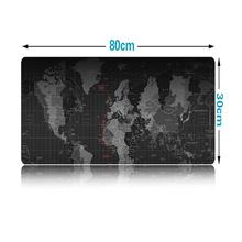Extra Large Mouse Pad 80x30cm Old World Map Gaming Mousepad Anti-slip Natural Rubber Compu