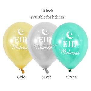 Image 4 - 이드 무바라크 풍선 해피 이드 풍선 해피 라마단 이슬람 축제 장식 이슬람 신년 맑은 색종이 풍선