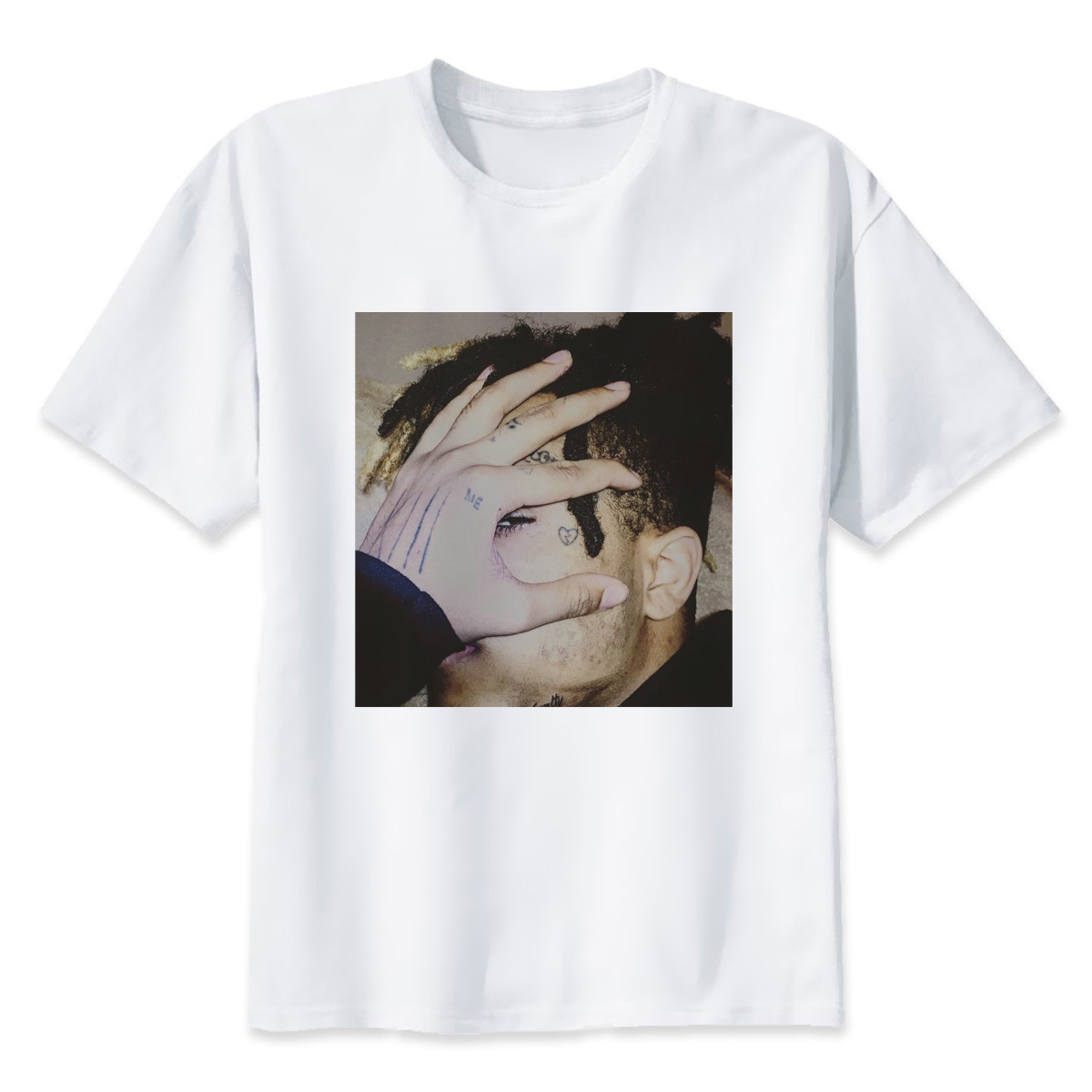 2018  Cool Boy XXXtentacion Printed T-Shirt For Men Novelty Men's Round Neck Short Sleeve T Shirt Tops Fashion Tees Men