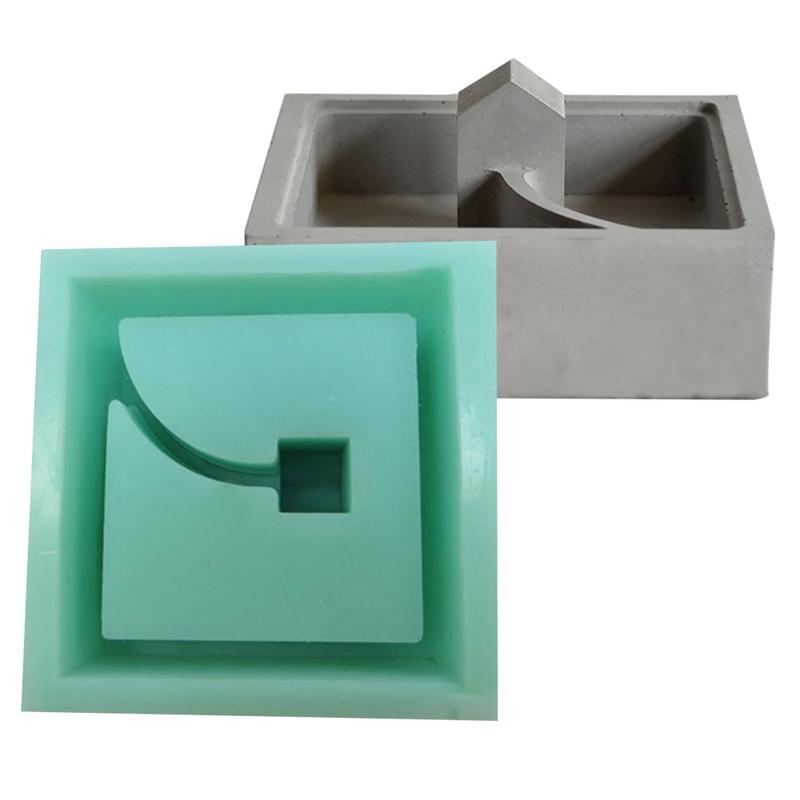 Bonsai Planter Mould DIY Ashtray Candlestick Candle Holder Mould Tray,Cement Concrete Clay Making Mold 3D Round Terraced Field Flower Pot Silicone Mold Succulent Plants Vase Flowerpot Mold
