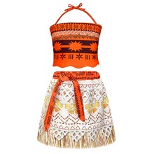 AmzBarley Girls Princess Moana Costumes Adventure Fancy Party Dress Up Cosplay Birthday For Teens Clothes