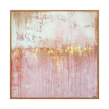 High quality Handmade thick knife abstract oil painting White pink Gold on Canvas Painting Decor Oil artwork