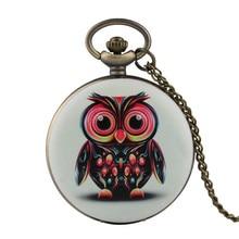 Coupons Fine Chain Women Pocket Watch Owl Pattern Pocket Watch for Boy Arabic Digital Quartz Pocket Watch Analog Pendant все цены