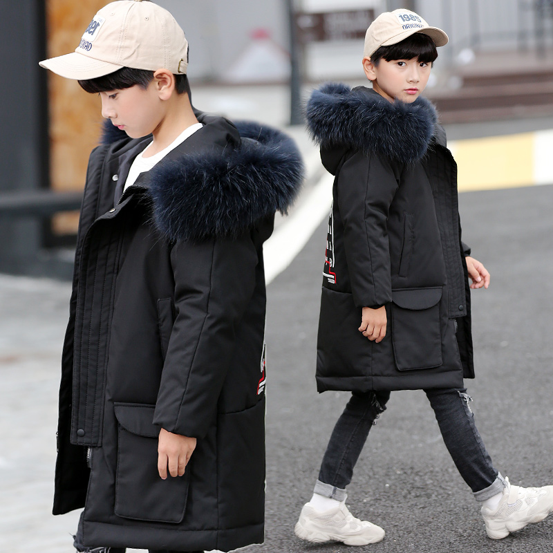 Winter Down Jackets for Boys Warm Coat Kids Clothes Snowsuit Outerwear & Coats Children Clothing Fur Hooded Boys Jacket Parkas new kids winter jacket for girl warm hooded down jackets for boys jacket teens girls coat children winter clothing boys coat