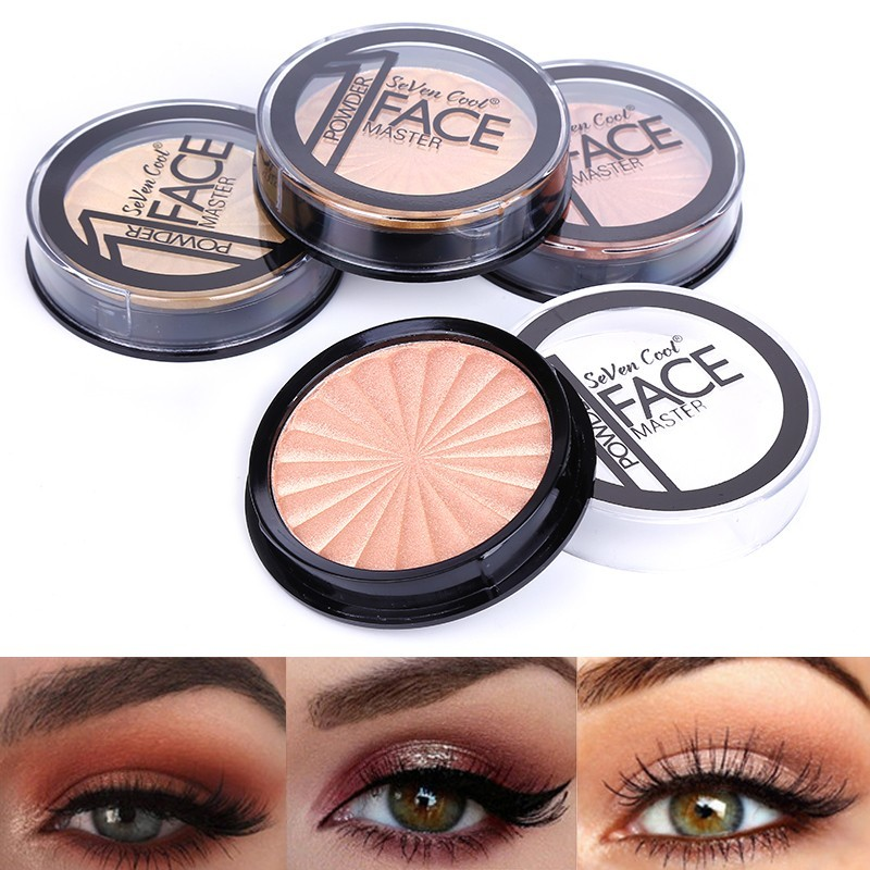 Blueness 1box Makeup Highlighter Powder Makeup Shimmer Illuminator Highlighter Palette Face Contour Brightener Cosmetic image