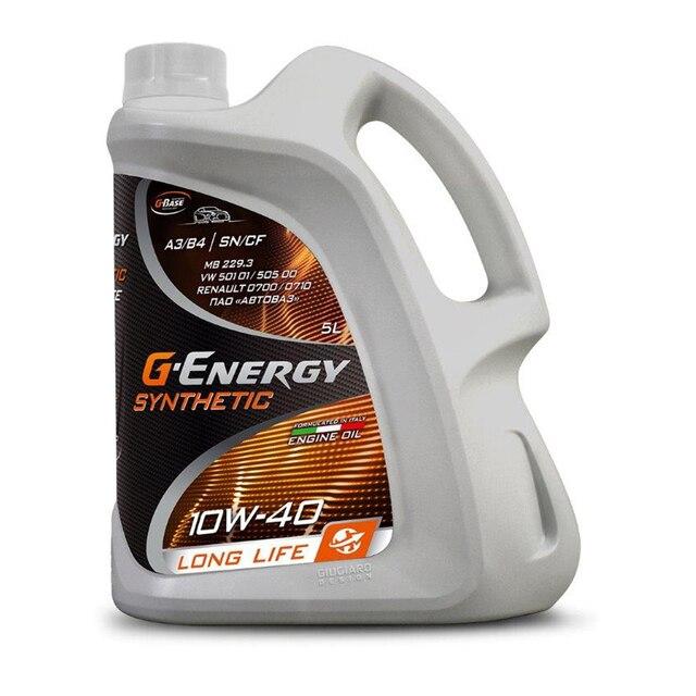 Масло моторное G-Energy Synthetic Long Life 10W-40 5 литров