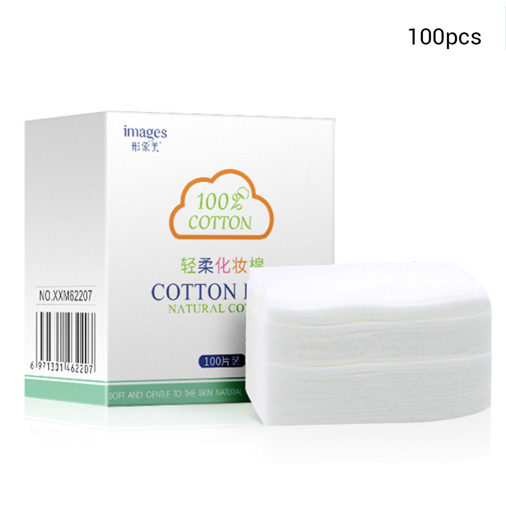 100Pcs Cotton Pads Face Make Up Remover Organic Wipes Cosmetics Cotton Pad Soft  Facial Organic Cleansing Skin Care Beauty Tool