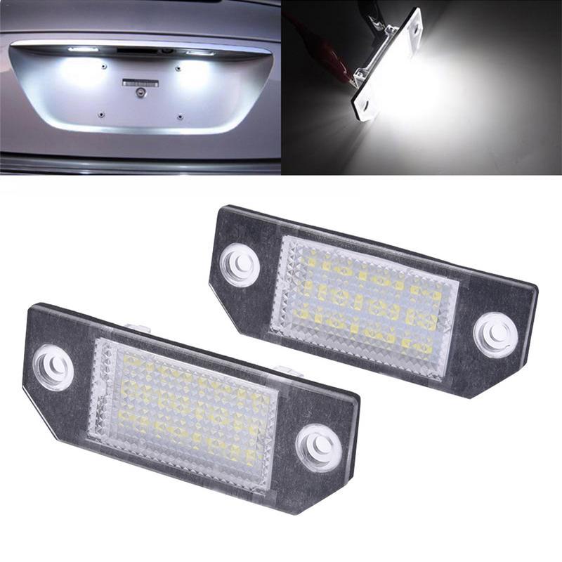 2 pcs dc12v 6 w 24 numero de licenca led placa lampada luz do carro levou