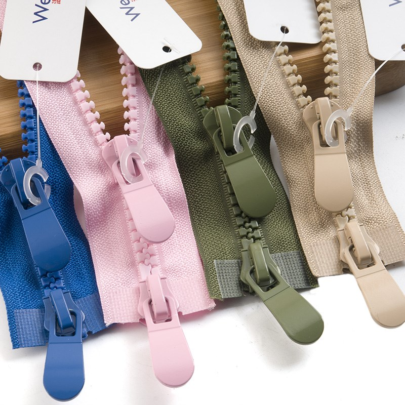 Meetee 120CM 8# Resin Open End Double Slider Head Zipper For Down Jacket Outdoor Backpack Tent Bag DIY Sewing Accessories AP551