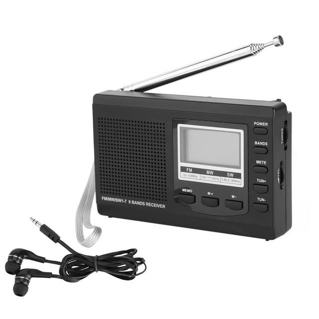 LEORY المحمولة راديو رقمي DC 5 V FM MW SW ساعة تنبيه FM راديو استقبال البسيطة والسماعة المدمجة