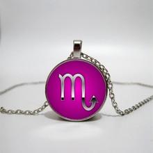 Glass Necklace Twelve Constellations Handmade Personalized Accessories Custom DIY customization