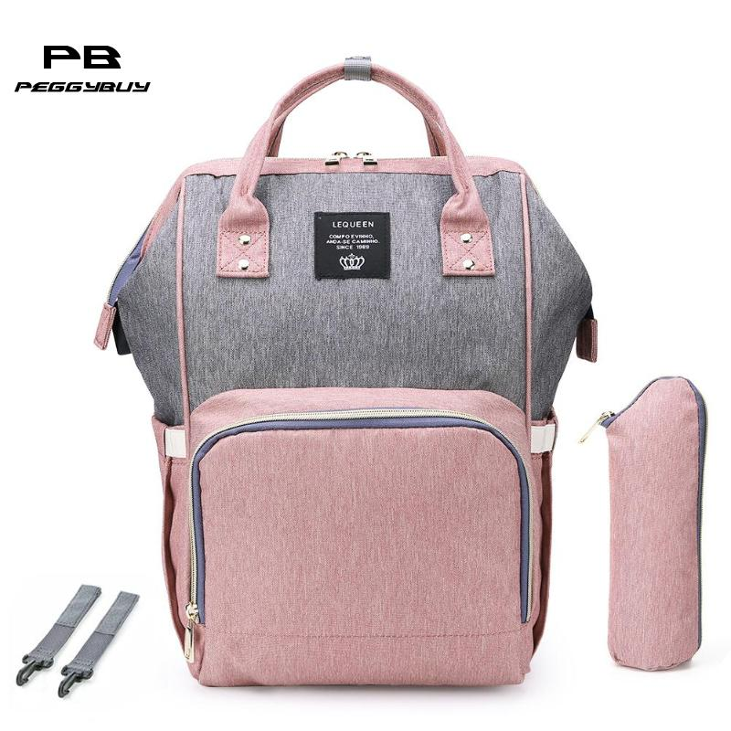 USB Port Maternity Diaper Bags Baby Nappy Nursing Bags Waterproof Diaper Mummy Bagpack Large Capacity Mother Travel Backpacks