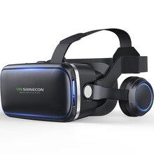 VR Shinecon 6.0 Casque 360 درجة ستيريو ثلاثية الأبعاد نظارة الواقع الافتراضي صندوق سماعة خوذة ل 4.7 6.0 بوصة الهاتف الذكي ل أندرويد