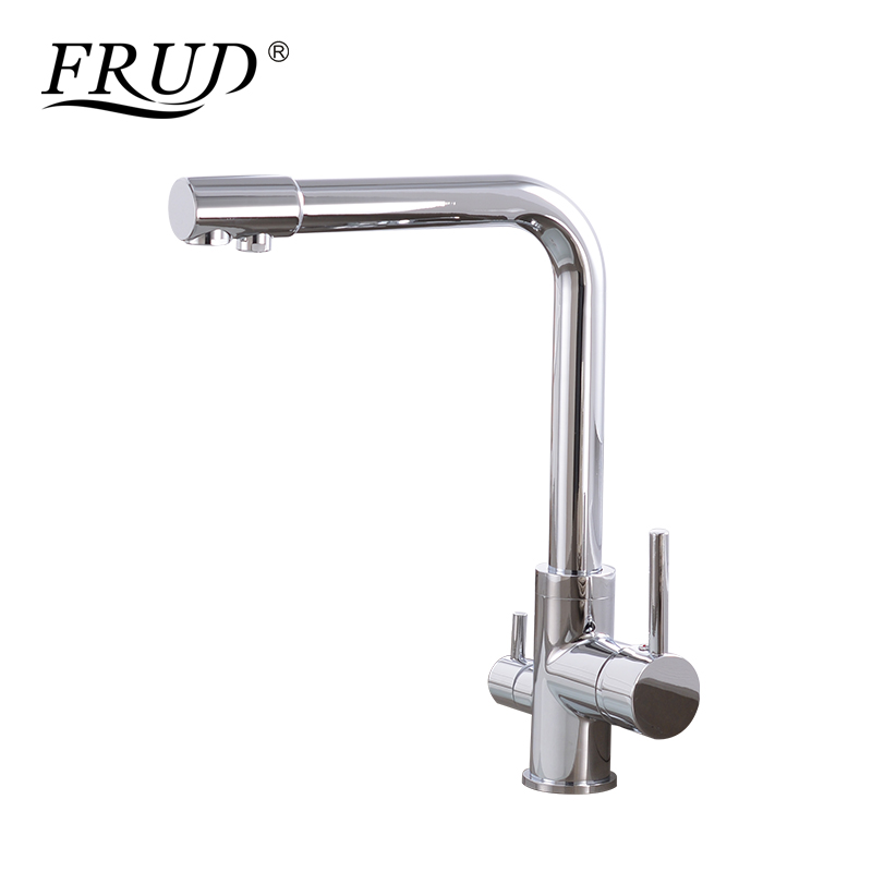 FRUD New Arrival Chrome Pure Water Kitchen Sink Faucet Swivel Spout Purification Mixer Tap With Purified