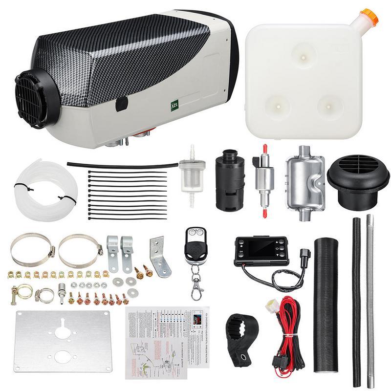 Appareil de chauffage de voiture 12V 5000W réchauffeur d'air Diesel Kit de chauffage de stationnement Diesel équipement de chauffage avec affichage de commutateur LCD