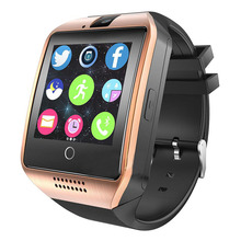 Q18 Smart Watch Men Sim Card Bluetooth Clock Phone Sport SmartWatch Sleep Monitor Fitness Tracker Message Camera For Android IOS