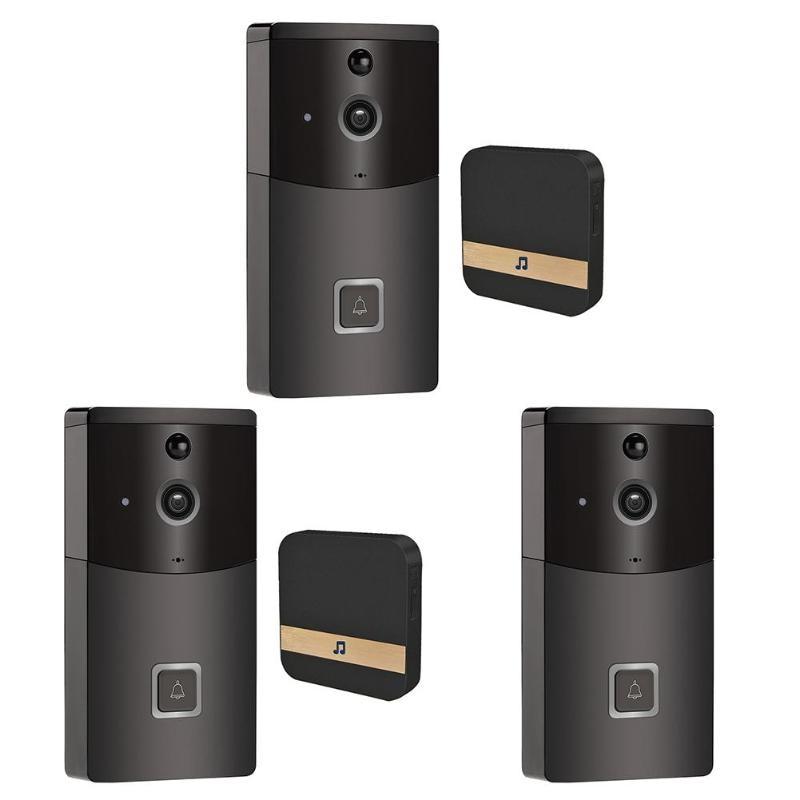 B10 Smart Wireless WiFi Intercom Video Visual Doorbell Two Way Audio PIR Motion Sensor Infrared Home Security DoorphoneB10 Smart Wireless WiFi Intercom Video Visual Doorbell Two Way Audio PIR Motion Sensor Infrared Home Security Doorphone