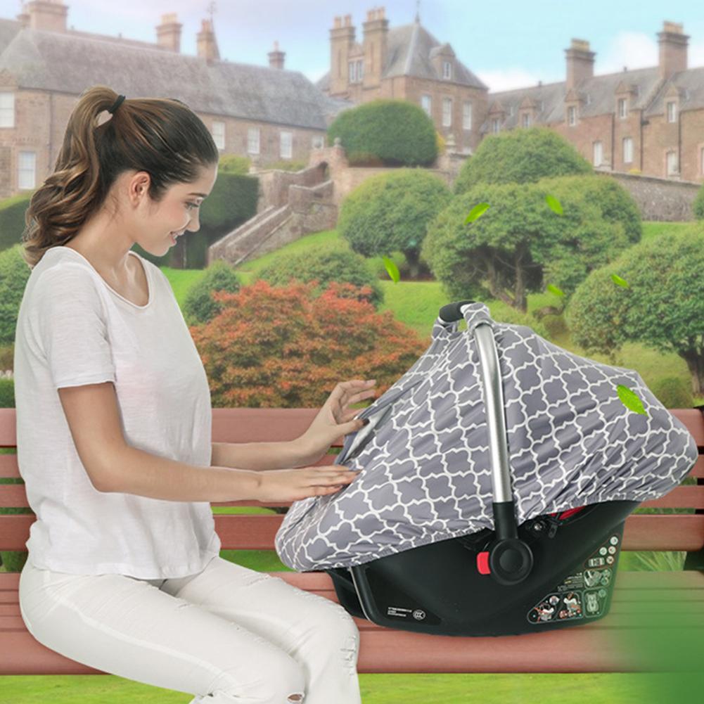 Multi-Use Sunshade Breastfeeding Cover Lattice Nursing Cover Baby Sunshade Stroller Cover Infant Car Seat Cover For Newborn