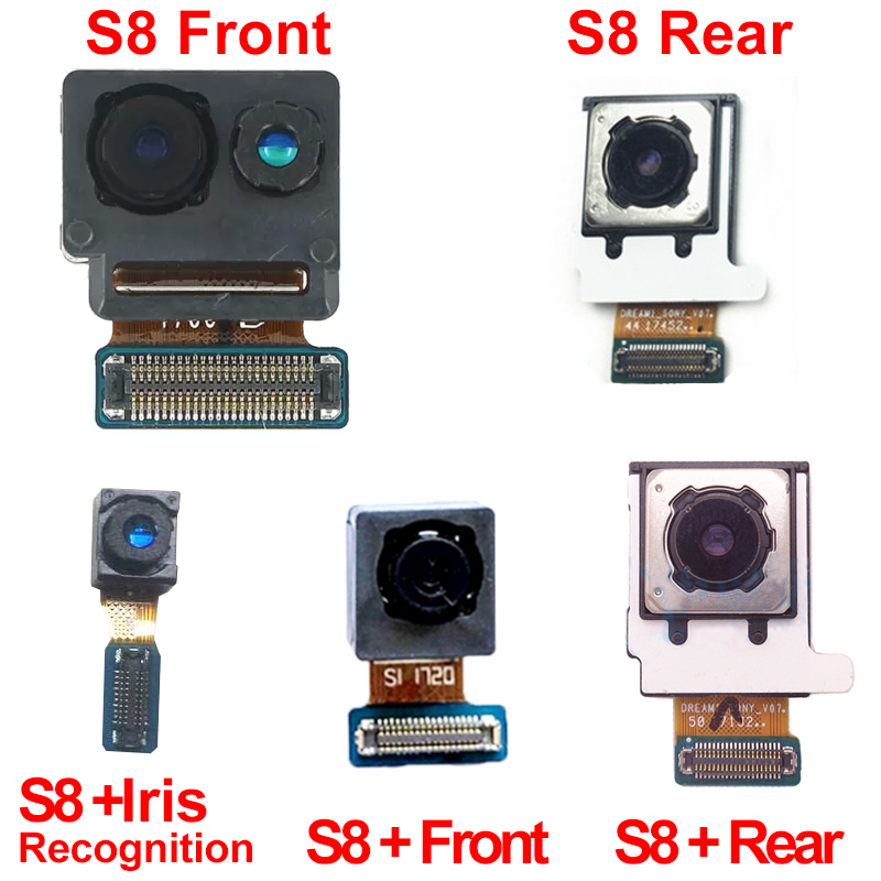 Big Camera For Samsung Galaxy S8 G950F S8 Plus G955F Small Front Facing Camera Module & Back Camera Rear Camera Flex Cable