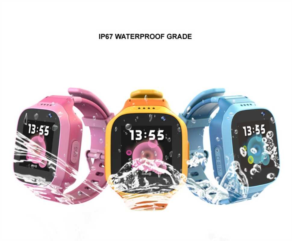 Smart watch 3G GPS tracker kids watches Waterproof IP67 GPS LBS WIFI Location SOS call Camera Remote monitor Smart clock td11