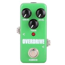KOKKO Guitar Effects Pedal Electric Guitar Effect Overdrive Mini True Bypass DC 9V Tube Overload Guitar Stompbox FOD-3 biyang x drive overdrive guitar effect pedal stompbox for electric guitar chipset changeable to create diffenet tone od 8