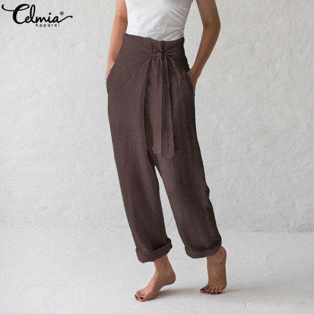 Vintage Linen Wide Leg Pants 1