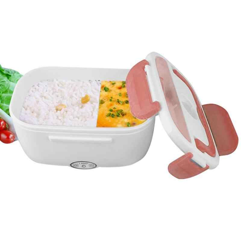 Novo portátil aquecedor de alimentos caixa de almoço de aquecimento elétrico recipiente de arroz multi-funcional caixa de aquecedor de alimentos 1.05l